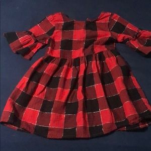 Toddler buffalo check dress